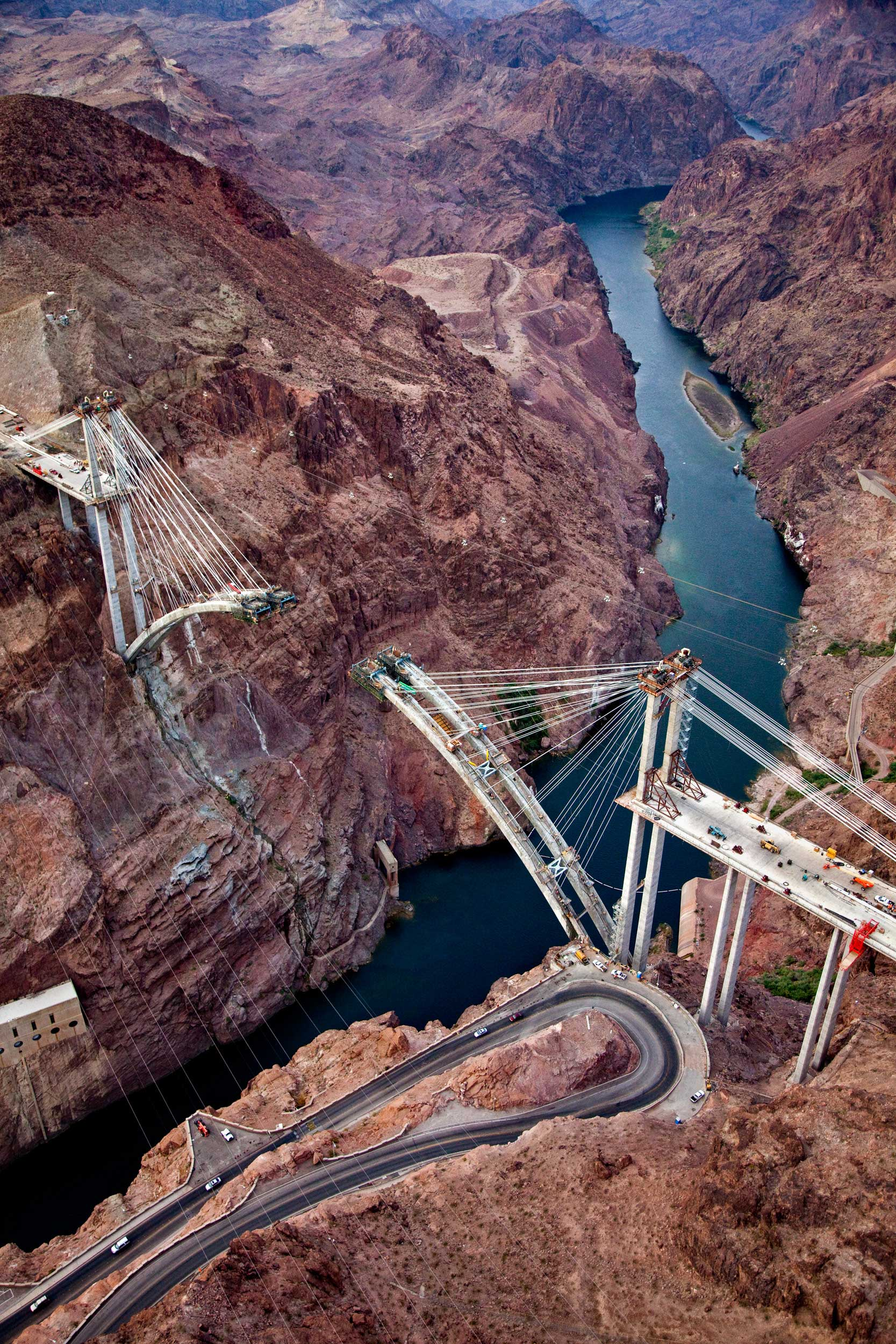 Aerial View of the Colorado River Bridge