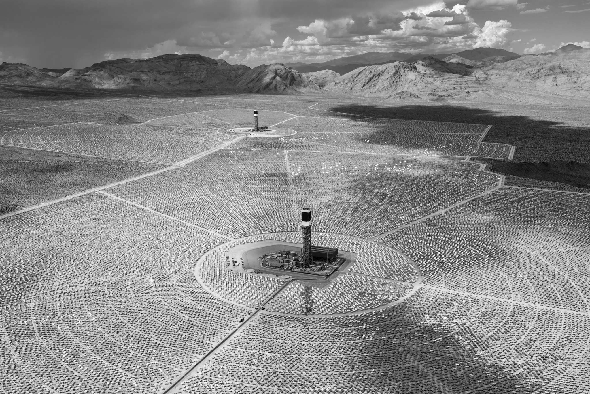 Jamey Stillings Assignment Photography On The Ground And In Ivanpah Solar Power Facility Electricity Generation System Concentrated Thermal Csp Doe Energy Google Green Interstate 15 Isegs Electric Generating