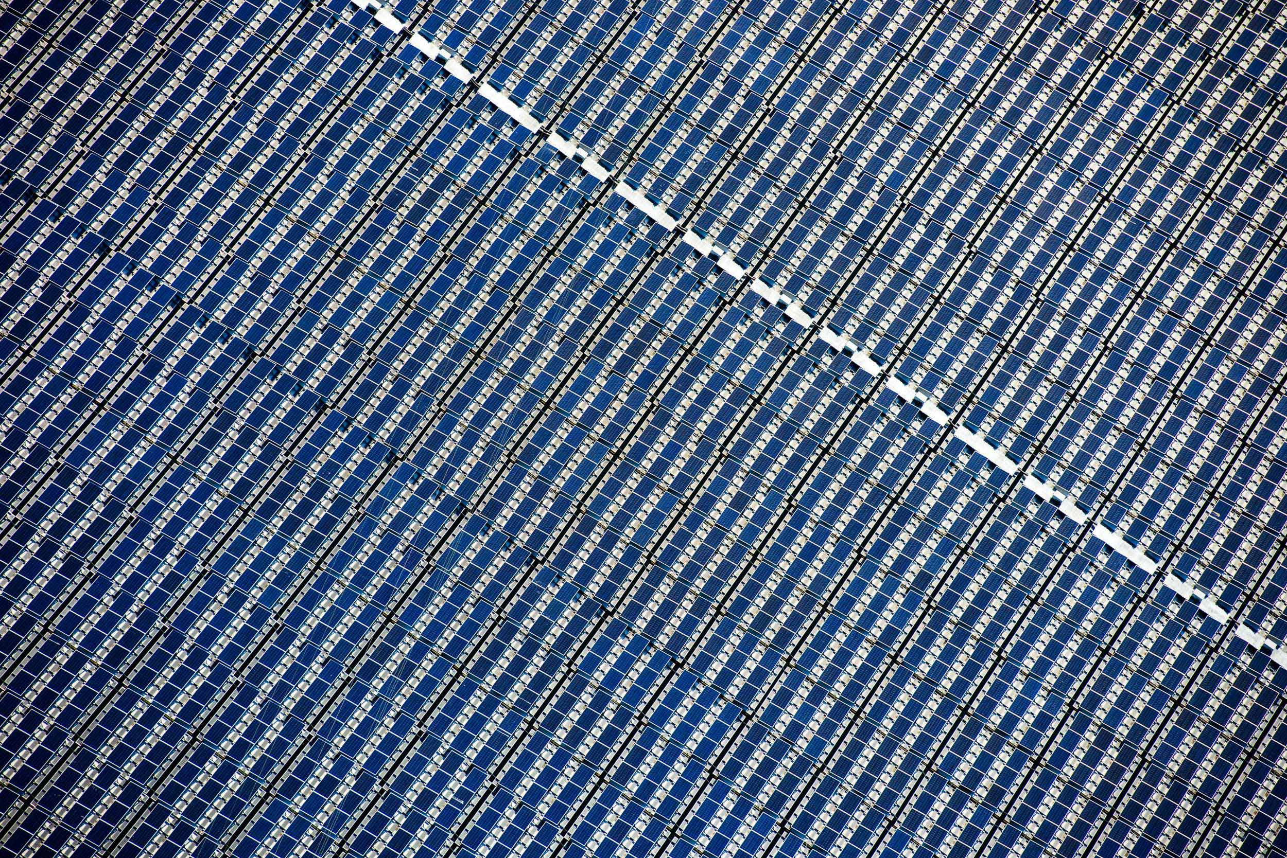 Detail of floating photovoltaic project, Hyogo Prefecture, Japan
